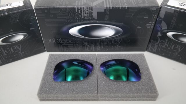 NEW Oakley GAUGE 8 MEDIUM JADE IRIDIUM OO4124 Replacement Lens Authentic GENUINE