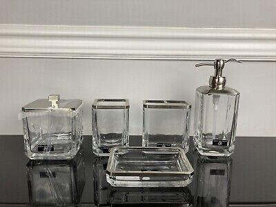 5pc Bath Set Hotel Balfour Soap, Glass Bathroom Accessories Sets