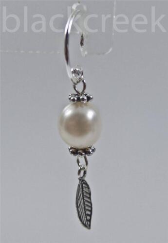 925 Sterling Silver ~ White Freshwater Pearl ~ Dangle Earrings
