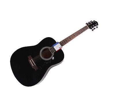 Music Fashion Style Ronnie Milsap Autographed Signed Acoustic Guitar Psa/dna Aftal