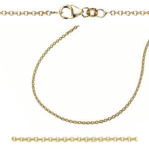 Juwelier Rund Anker Erbskette Kette Stärke 2 mm Echt Gold 333 (8 Kt) Gelbgold