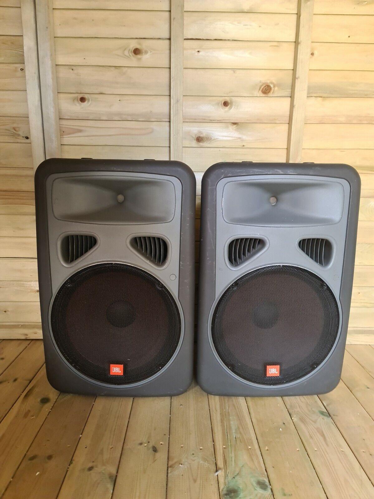 JBL EON15 XL Passive Speakers Pair In Grey 250W Each X3 Speaker Cables