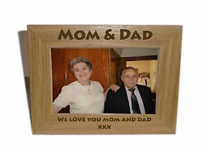 Mom Dad Wooden Photo Frame 6x4 Personalise This Frame Free