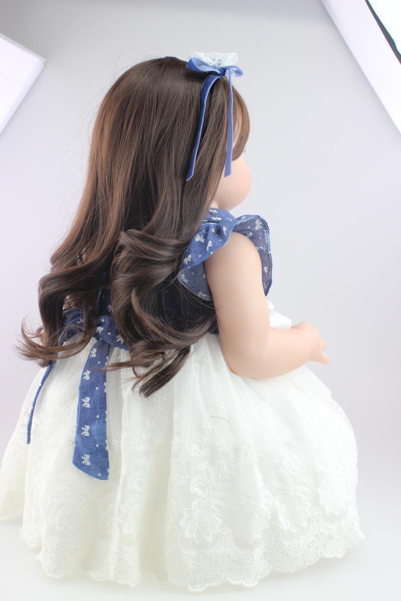 28'' Toddler Bebe Reborn Baby Girl Doll Likelife Silicone Vinyl Newborn Toy Gift