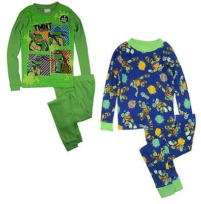 J09C Ninja Turtles Boys Kids Size  6 8 10  Cotton Pyjamas PJs Pajasmas Sleepwear