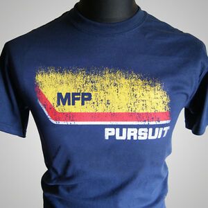 Mad-Max-MFP-Pursuit-Retro-Movie-T-Shirt-V8-Car-Interceptor-Navy-Blue