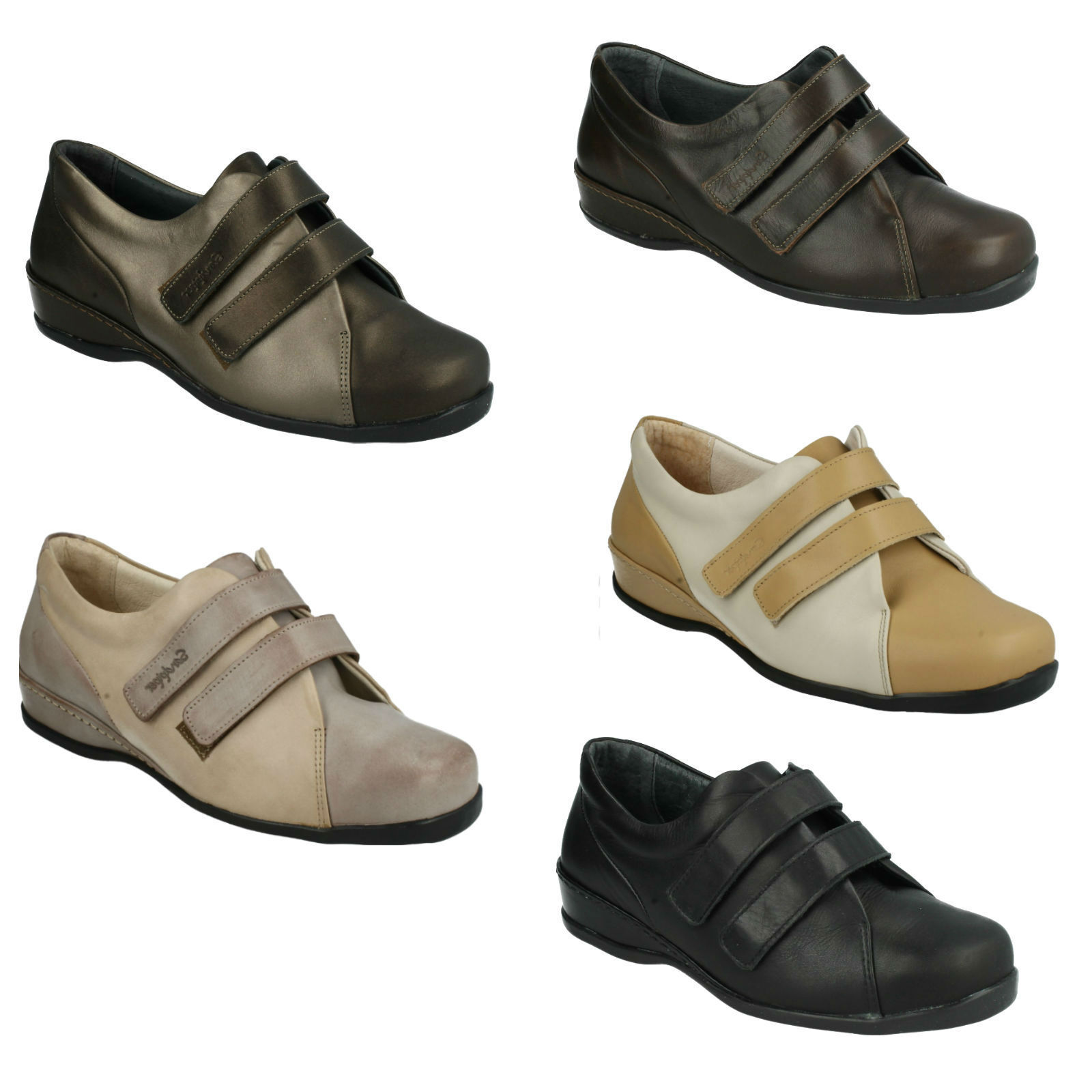 SANDPIPER WESTON LADIES CASUAL FLAT RIPTAPE FASTENING EVERYDAY CASUAL SHOES