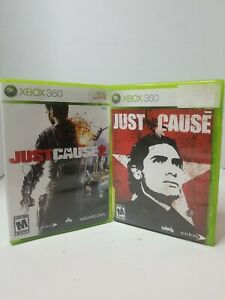 USED (Complete) Just Cause 1 + 2 Microsoft Xbox 360 Lot Of 2 - Free Shipping