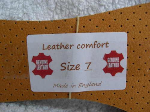 Cuir Semelles intérieures pour Sport Travail Bottes Chaussures UK 3,4,5,6,7,8,9,10,11,12