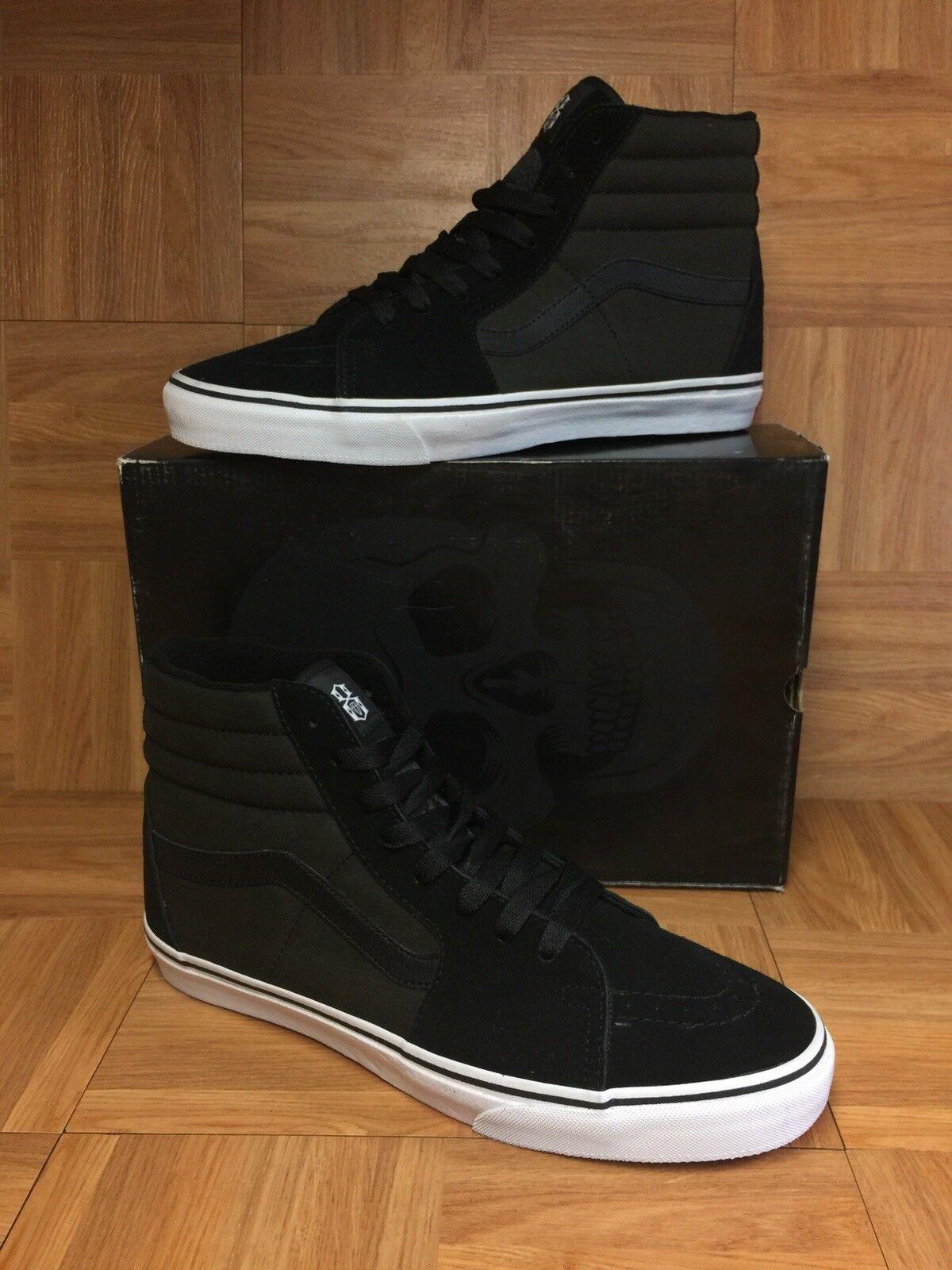 RARE VANS Rebel8 Mike Giant Sk8-Hi nero bianca San Francisco scarpe Sz 13 Men's