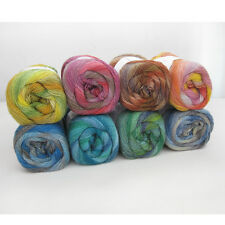 Kniting Crochet 8 Colors Wool Soft Top Roving Dyed Spinning Felting Yarn 03