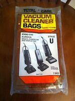 Total Care Vacuum Cleaner Bags Style U Eureka Bravo Powerline World Vac T-52