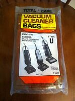 Total Care Vacuum Cleaner Bags Style U Eureka Bravo Powerline World Vac T-52