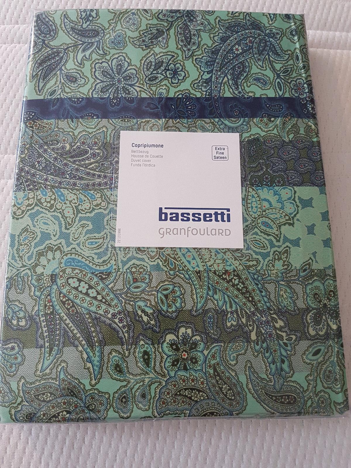 Bassetti Satin Bettwäsche Montalcino V3 Grün Blau Exclusive Design  Neu