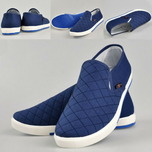 Men Slip On Loafers Canvas Casual Boat Shoes Flats Sneakers Driving Moccasins