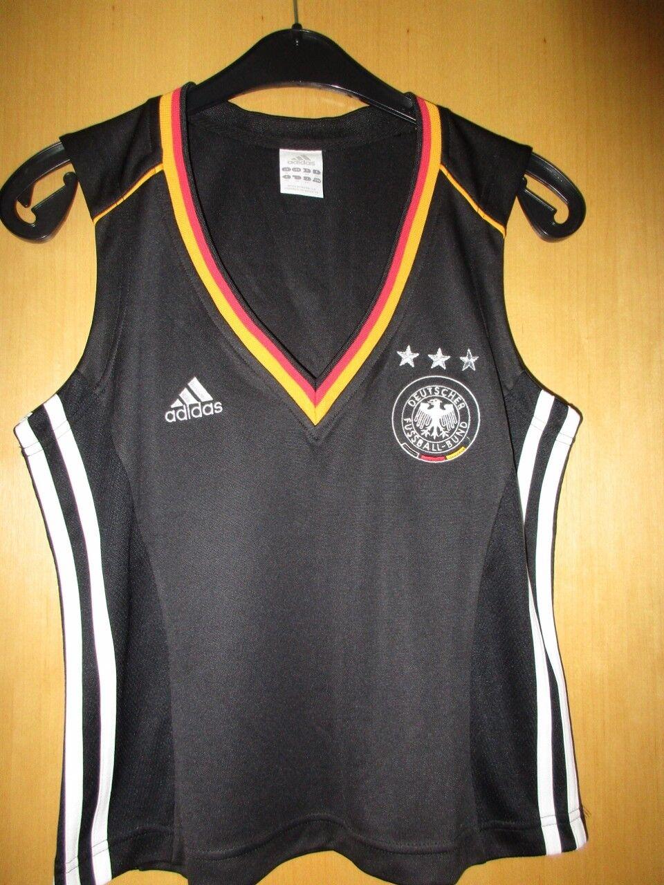 Adidas Top Fußball Tanktop Deutschland Nr. 13, schwarz, Gr. 42, Rarität 2004