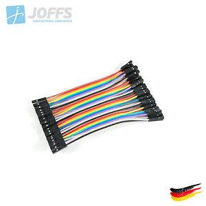40-x-10cm-FEMALE-zu-FEMALE-Jumper-Kabel-Dupont-Cable-Breadboard-Wire