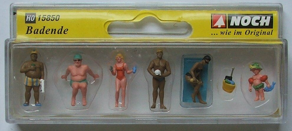 Pk6 Noch 15850 Sunbathers HO Gauge Figures Set