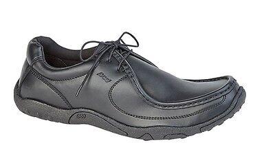 Pod 62088 Cuero Negro Textil Zapatos De Escuela Con Cordones Pescuezo y