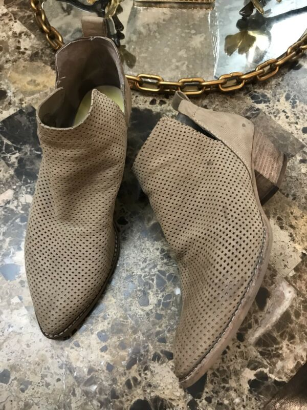 Dolce Vita Sonya Perforated Split Shaft Ankle Bootie Boots Sand Nubuck $140 Fixing Prices According To Quality Of Products
