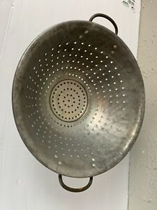 Vintage-Wear-Ever-11-034-Diameter-Aluminum-No-208-Strainer-Colander-Heavy-Duty