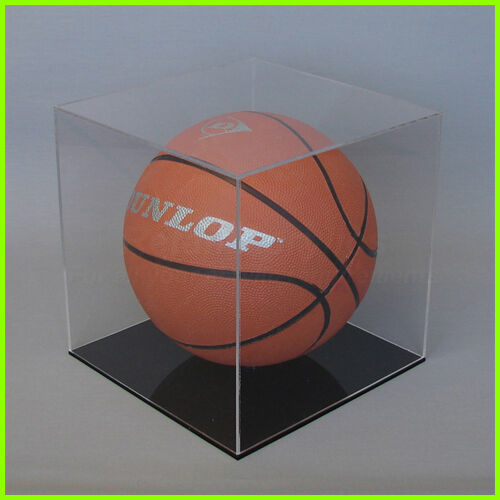 basketball display case clear acrylic perspex black white - Basketball Display Case