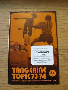 04091973 Newport County v Swindon Town Football League Cup Replay folded - <span itemprop=availableAtOrFrom>Birmingham, United Kingdom</span> - Returns accepted within 30 days after the item is delivered, if goods not as described. Buyer assumes responibilty for return proof of postage and costs. Most purchases from business s - Birmingham, United Kingdom