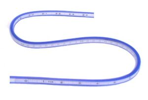 24 flexible curve template pattern contour gauge shaping tool