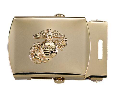 U.S Marines Web Belt Buckle with USMC Globe /& Anchor Logo Chrome Brass Black