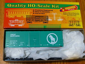 Roundhouse HO #7994 (Rd #19179) Great Northen Green 40' Modern Boxcar (Kit Form)