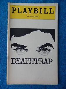 Deathtrap - Music Box Theatre Playbill - August 1978 - John Wood - Marian Seldes