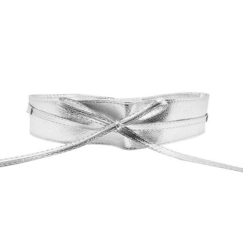 Belt Elegant Bow Belt Wide Self Tie Wrap Around Waist Band Ladies Lady Girl Belt