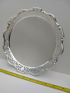 Stunning Antique Sheffield Silver Plate Tray Joseph Ellliot VGC