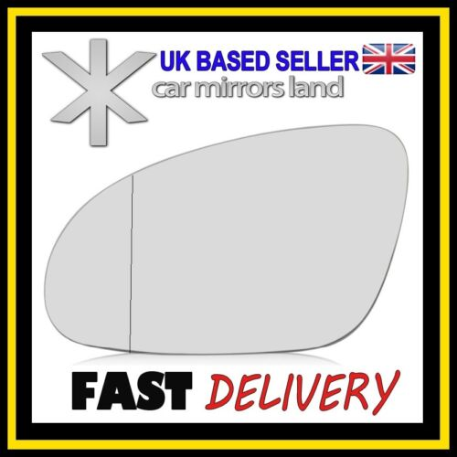 Left Passenger Wing Car Mirror Glass Replacement Wide Angle VW PASSAT B6 05-10