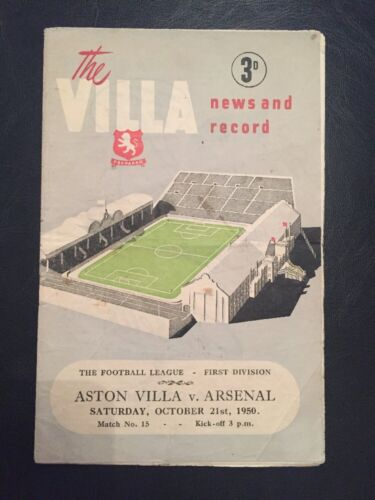 Aston Villa V Arsenal 21101950