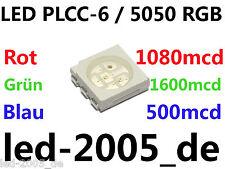 30 x LED PLCC-6 RGB, 1080/1600/500mcd, ULTRAHELL,SMD LED PLCC6 RGB,LED 5050 RGB