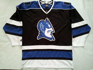 finest selection b0490 1e5b7 Details about VINTAGE COLOSSEUM THE AUTHENTIC NCAA DUKE BLUE DEVILS HOCKEY  JERSEY IN SIZE XL