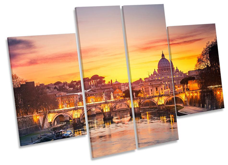 Catedral de San Pedro Roma Sunset de Italia LONA pared arte Foto impresión de Sunset panel de múltiples 11ff89