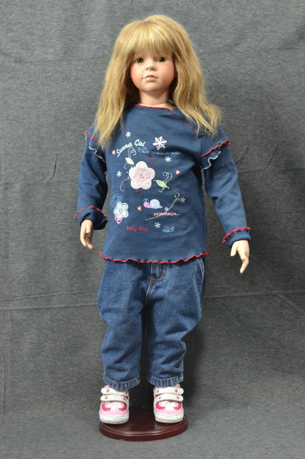 BAMBOLA, vs Collection, ragazza in jeans, con supporto, 78 CM, 1991, BAMBOLA DA COLLEZIONE