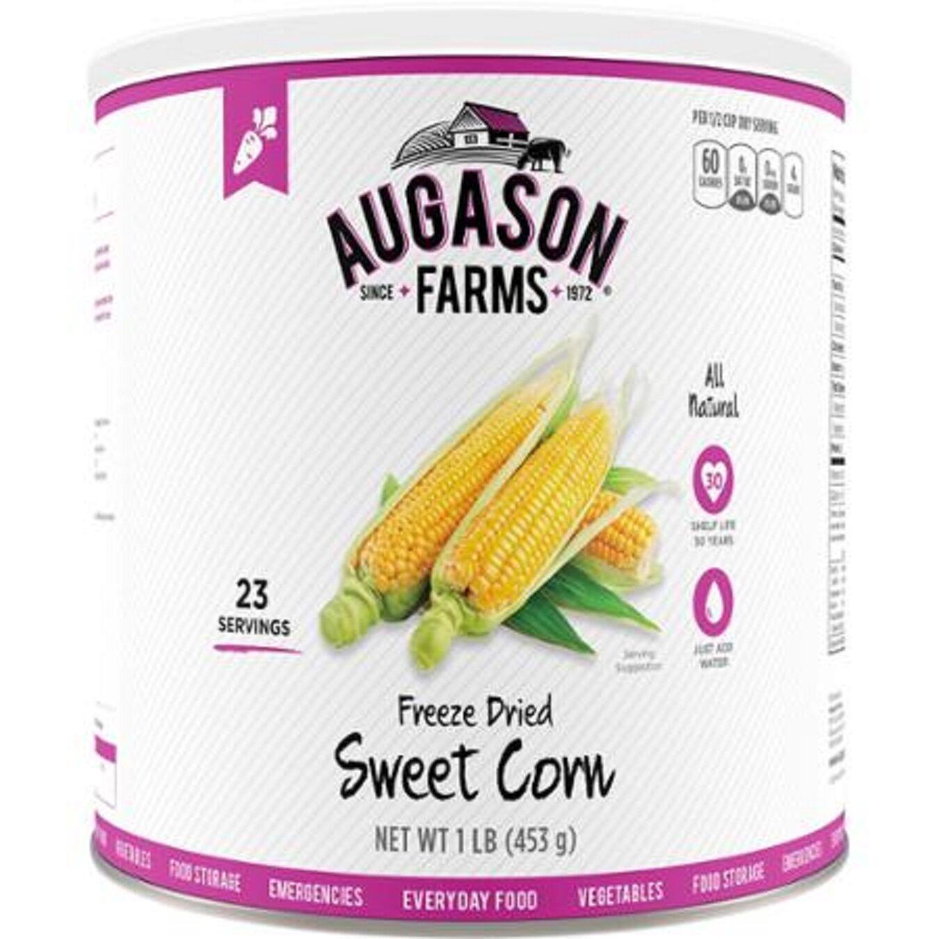 Augason Farms Emergency Disaster Survival Camp RV Food Frz Dried Sweet Corn Vegg