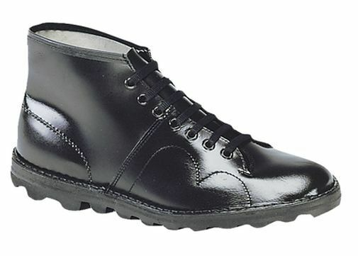 Herren SIZE 3 4 5 6 7 8 9 9 8 10 11 12 BLACK LEATHER MONKEY CASUAL WORK LACE UP Stiefel 2a1ba5