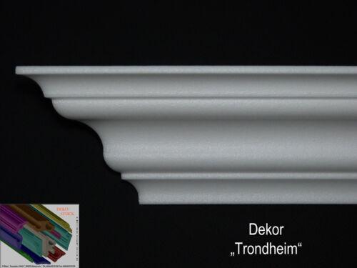 """4 I-A Ecken 7cm x 7cm Stuckprofile Stuckleisten Zierprofil /""""Trondheim/"""" 30 Meter"""