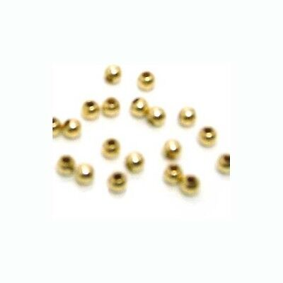 100pc 2.5mm Rose Gold Filled Seamless Round Spacer Beads.Tiny Gold Beads 14kt