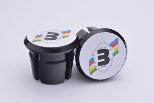 Basso Plugs Caps Tapones guidon bouchon lenker vintage style black white