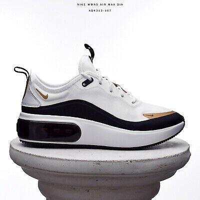 Para mujer Nike Air Max Dia Mujeres Estilo De Vida Zapatillas Nuevo Blanco  Negro Dorado AQ4312-107 | eBay