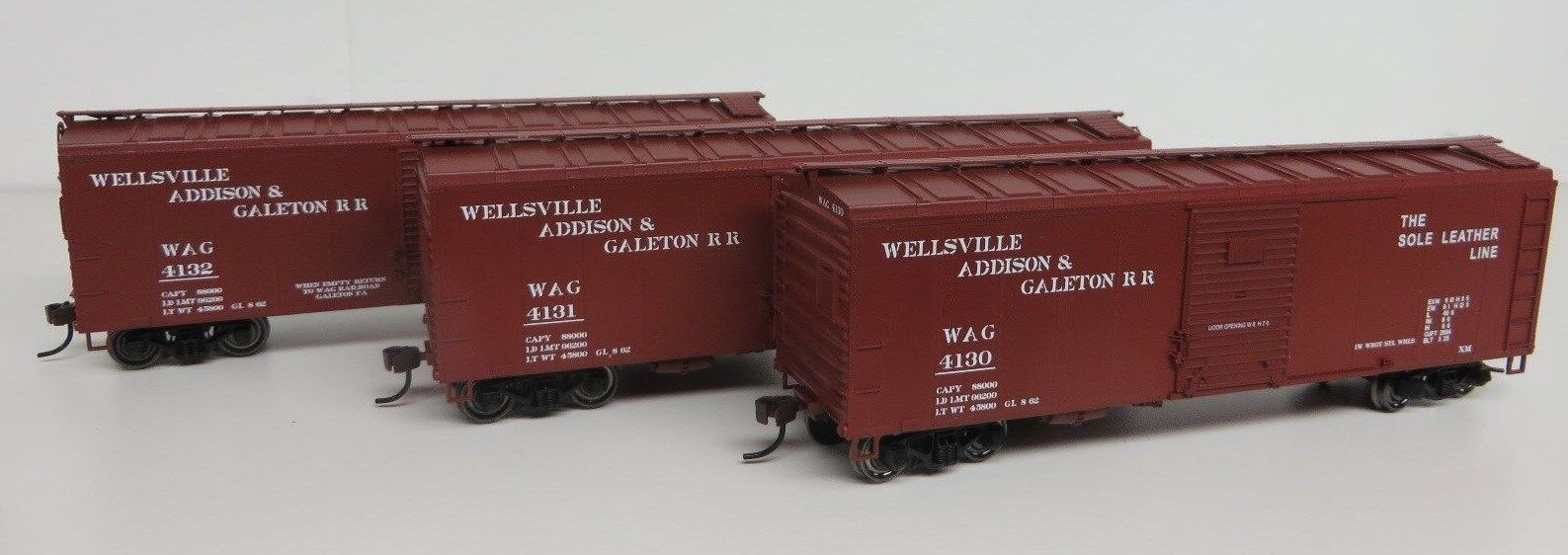 Accurail WELLSVILLE ADDISON /& GALETON-WAG 40/' Wood Box Car #6075 KIT 80951