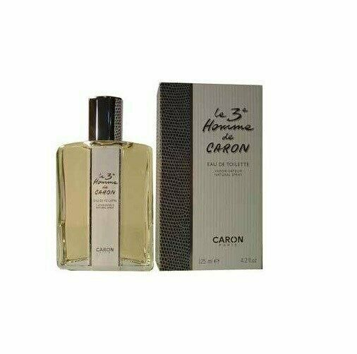 LE 3 HOMME DE CARON 4.2 oz EDT eau de toilette Men's Spray Cologne New NIB