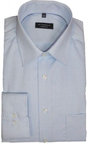Camicia Eterna Comfort Fit blu chiaro con motivo 8131//12 e18e extra lungo braccio 72 cm