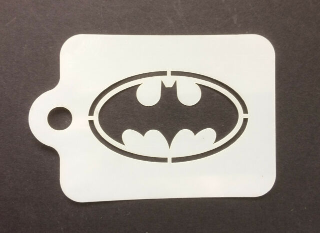 Batman Bat Logo Face Painting 190micron Washable Reusable Mylar Ebay