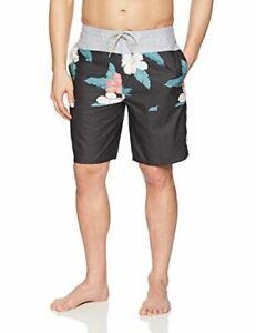 Rip Curl Men/'s Layday Boardshort Treehouse Swim Beachwear Black Floral 33 34 36